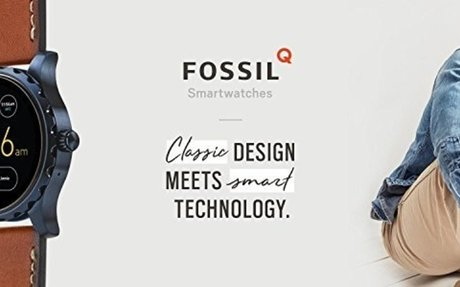Fossil Q Marshal Gen 2 Smoke Stainless Steel Touchscreen Smartwatch FTW2108: W