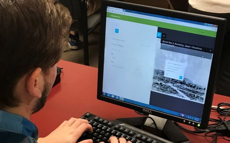 An example student curation project from the Smithsonian Learning Lab.