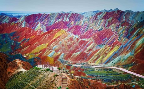 Rainbow Mountains Actually Exist