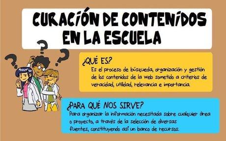 Curación de contenidos en la escuela (infografía)