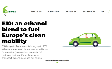 European renewable ethanol industry launches new resource for consumer information