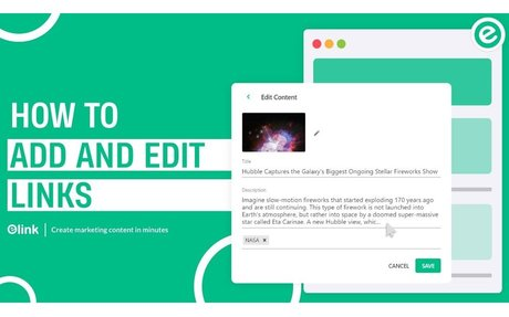 How to Add & Edit Links | elink.io