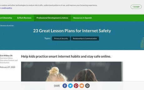 23 Great Lesson Plans for Internet Safety | Common Sense Education