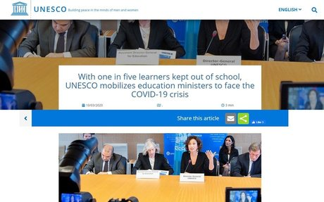 With one in five learners kept out of school, UNESCO mobilizes education ministers