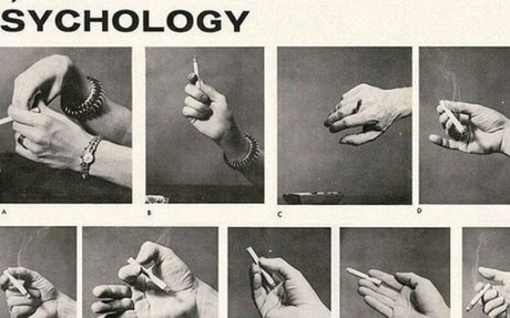 "Back in the '50s There Was ""Cigarette Psychology"" – 9 Ways of Holding Your Cigarette and W"