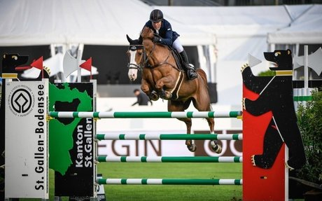 Show Jumping: Michael Whitaker steals Thursday's biggest win in St. Gallen