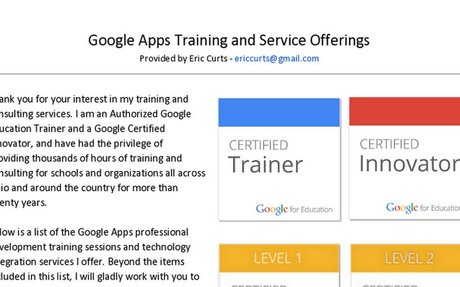 Google Apps Training and Services - Eric Curts*