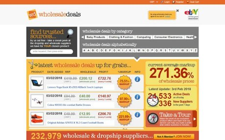 Wholesale Deals Up to 95% off RRP on Wholesalers, Dropshippers, Trade Suppliers, Distri...