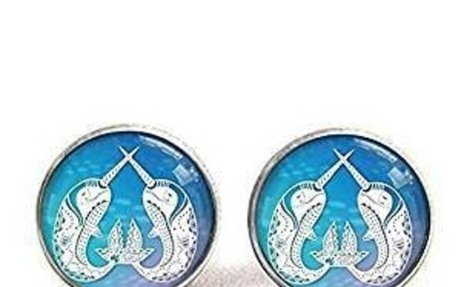 Amazon.com: Narwhal Earrings Printed Papercut Illustration Pendant
