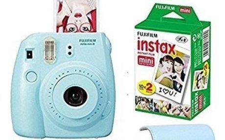Amazon.com : Fujifilm Instax Mini 8 Instant Film Camera Blue + With Fujifilm Instax Mini I