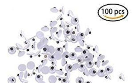 Amazon.com: DatingDay 100 Pieces Self Adhesive Black White Wiggle Googly Eyes DIY Doll Mak
