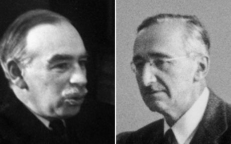 Keynes v Hayek: Two economic giants go head to head - BBC News