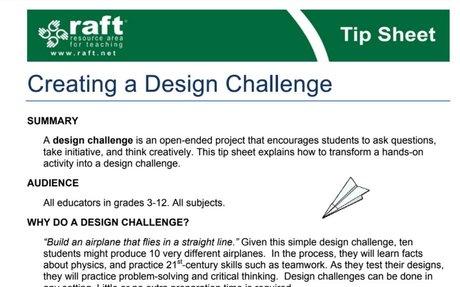 Creating a Design Challenge Tip Sheet