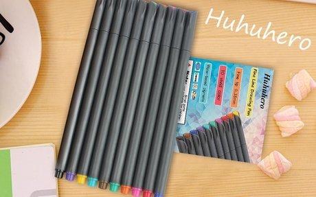 Amazon.com : Huhuhero Fineliner Color Pen Set, 0.38 mm Fine Line Drawing Pen, Porous Fine