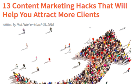 13 Content Marketing Hacks To Help You Attract More Clients!