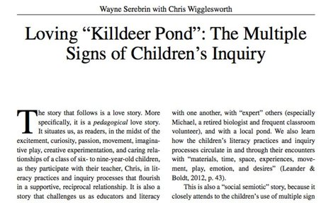 "Loving ""Killdeer Pond"": The Multiple Signs of Children's Inquiry"