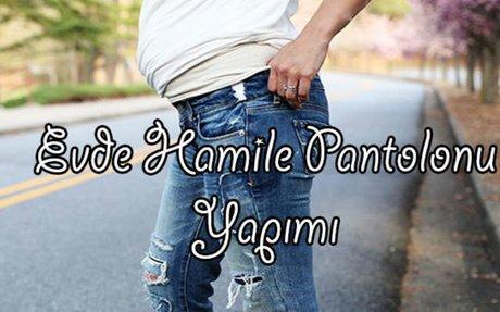 Evde Kot Pantolondan Hamile Pantolonu Yapımı - Hamilegiyim.net
