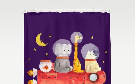 Animals All Go To Mars Shower Curtain