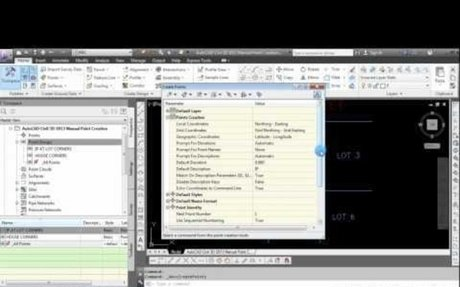 AutoCAD Civil 3D 2013 Manual Point Creation