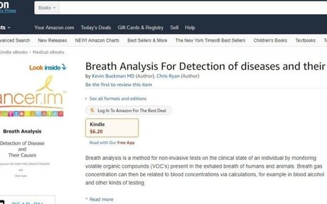 Cancer,im Publishes Book on Breath Analysis