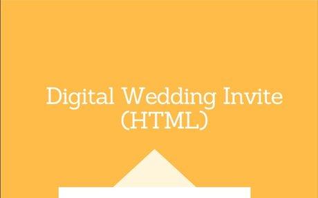 Basic digital wedding invite using HTML