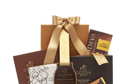 GODIVA Chocolate Lover's Gift Basket with Classic Ribbon
