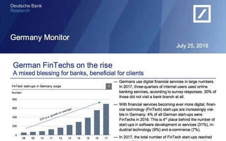 2018-07 Deutsche Bank Report: German FinTechs Report