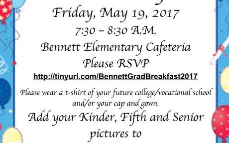 Bennett Senior Breakfast Invitation
