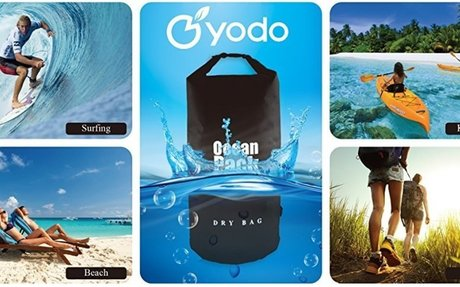 Amazon.com : Yodo 10L Kayaking Waterproof Dry Bag - Roll Top Compression Sack for Sports,