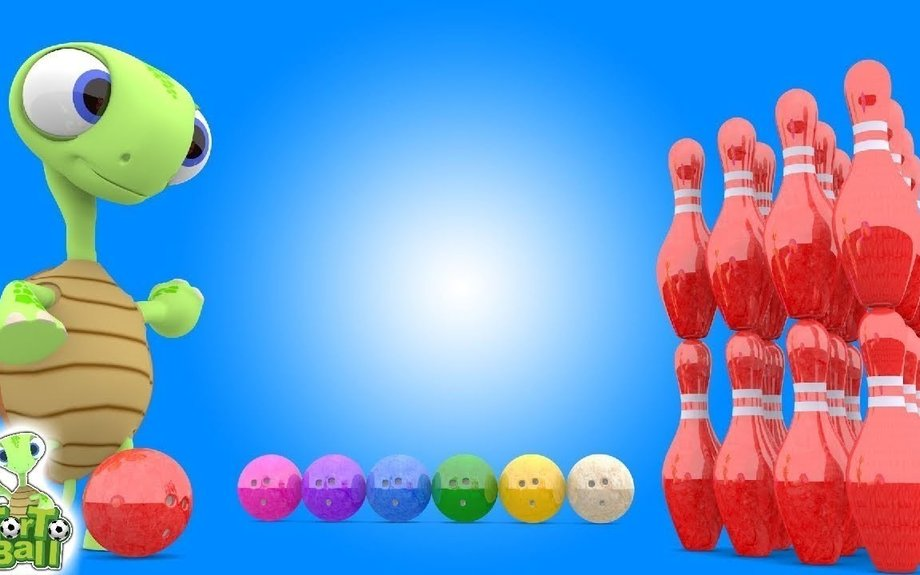 BOWLING BALLS Color Bowling Turtle Was Kicked For Children and Kids | Torto Ball