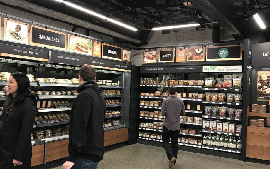 Photos: Here's what the new Amazon Go cashier-less convenience store looks like