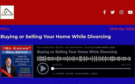 Buying or Selling Your Home While Divorcing