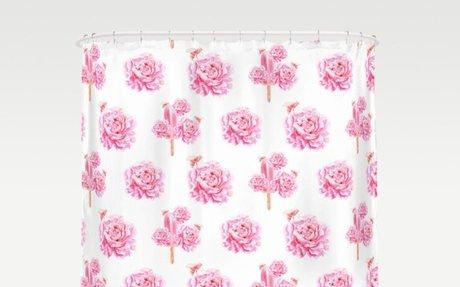 Rose Pop Shower Curtain