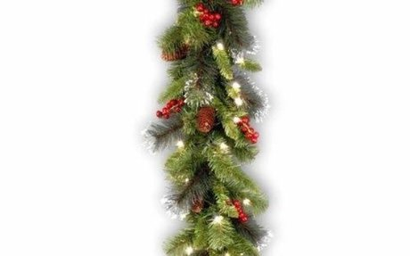 Amazon.com: National Tree 9 Foot by 10 Inch Crestwood Spruce Garland with Silver Bristle,