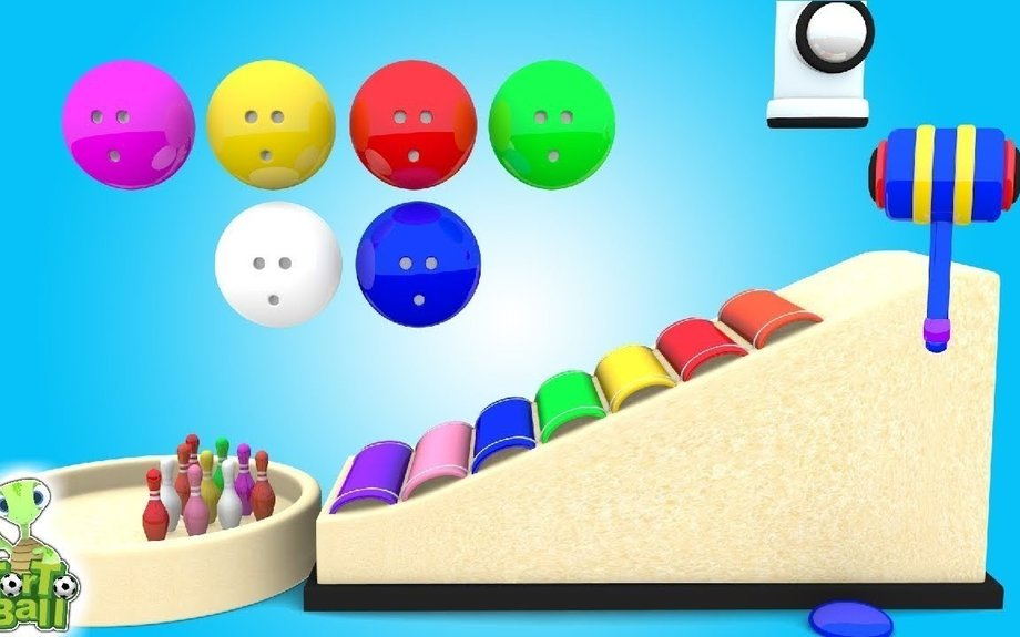 BOWLING BALLS Turtles with Xylophone Funny For Children and Kids | Torto Ball