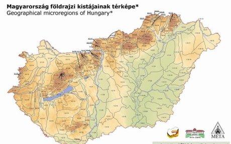 Magyarország földrajzi kistájbeosztása (MTA FKI) - GIS | novenyzetiterkep.hu