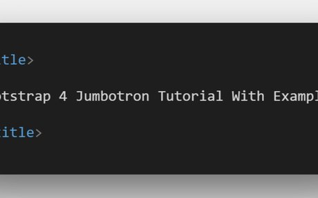 Bootstrap 4 Jumbotron Tutorial With Example