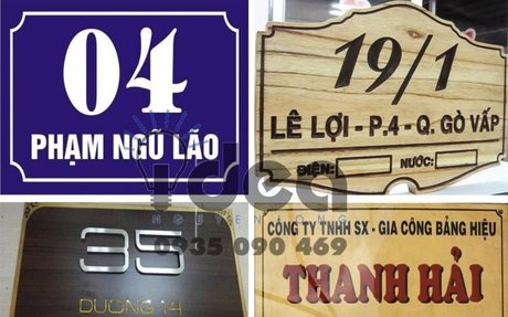 Làm bảng tên công ty, bảng số phòng, làm bảng hiệu công ty - Thiết kế in ấn bảng hiệu