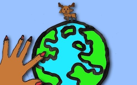 THE WAY THEY GRAB THE WORLD by Ine, age 8