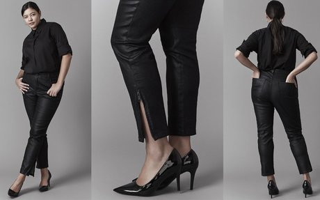 Plus Size Fashion Find of The Day: Meuse Resin Jeans From Universal Standard
