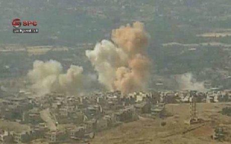 أكثر من 40 غارة جوية و1500 قذيفة استهدفت خان الشيح في الغوطة الغربية