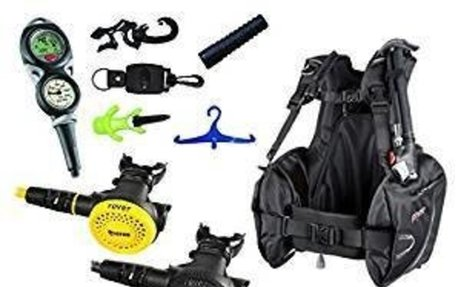 Mares Scuba Diving Computer, Regulator Set, Octo Complete Basic Package w/ BC