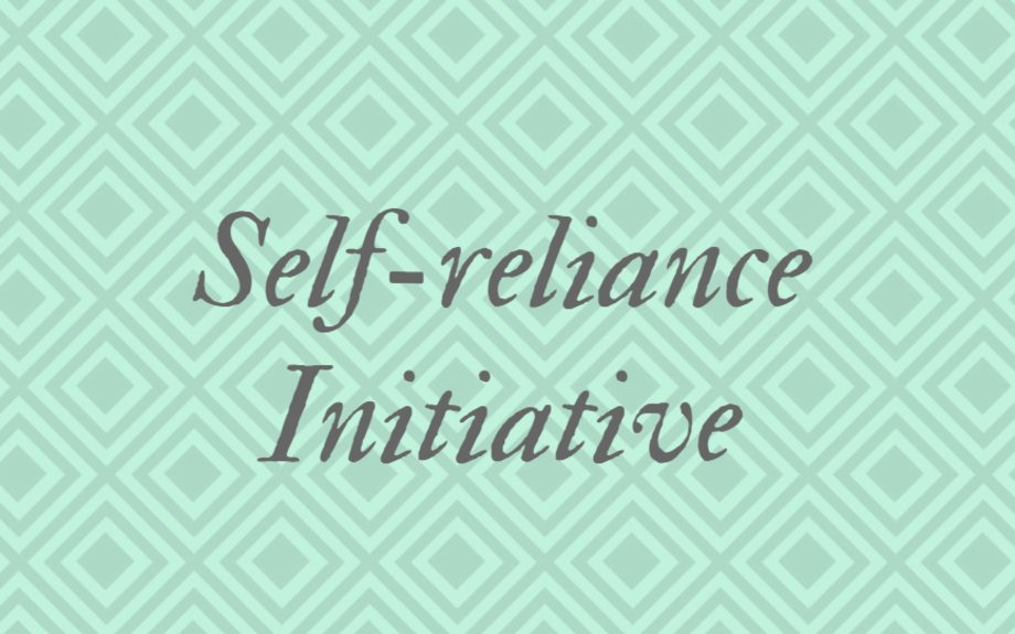 Let Us Be Self-Reliant and Independent