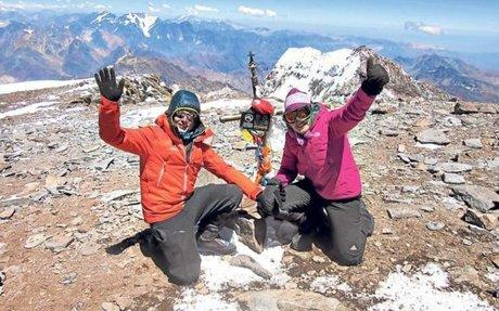 Egloff pidió matrimonio en la montaña