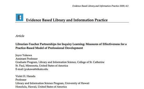 Librarian-Teacher Partnerships for Inquiry Learning