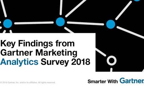 Key Findings from Gartner Marketing Analytics Survey 2018 #Marketing
