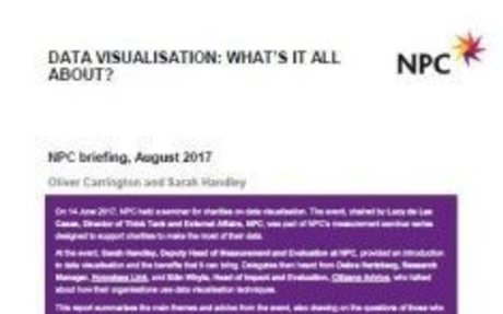 Data Visualisation: What's it all about? |