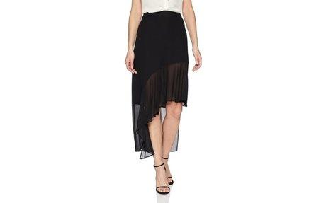 BCBG MAX AZRIA Women's Asymmetrical Ruffle Hem Skirt