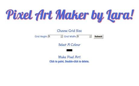 FEWD Challenge - Pixel Art Maker v1 by lalula.frei