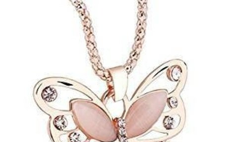 Amazon.com: SPHTOEO Fashion Women Girls Rose Gold Opal Butterfly Pendant Necklace Sweater